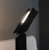 1980s Angular Black Floor Lamps for Pollux Skipper