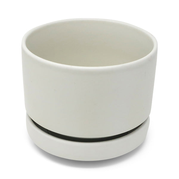 1960s White Modernist Planter by Richard Lindh for Arabia Finland