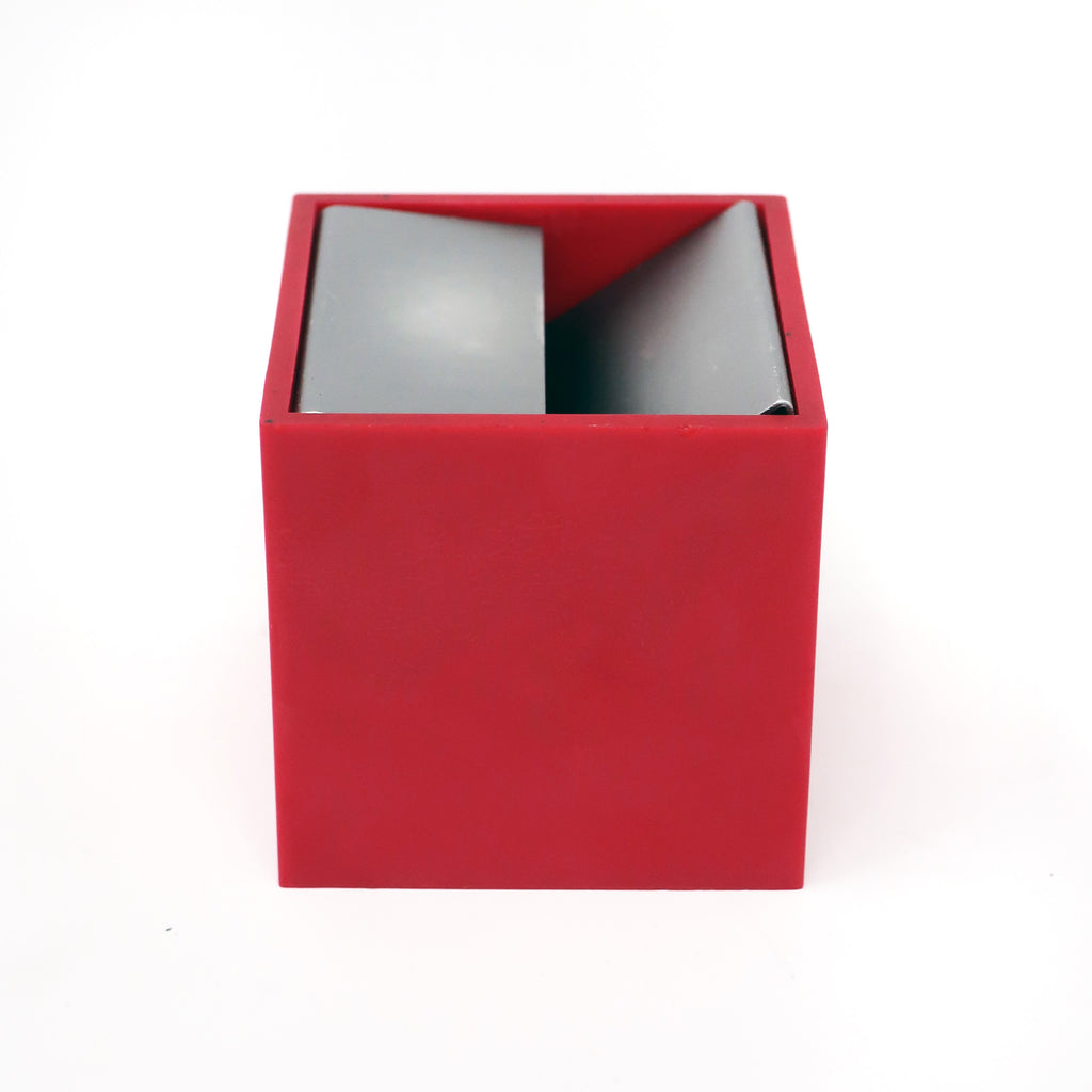 Red Cubo Ashtray by Bruno Munari for Danese Milano