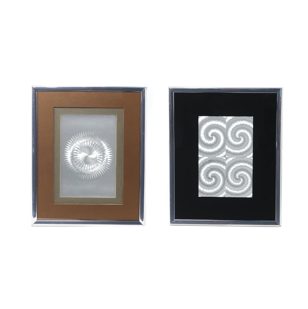 Pair of Vintage Framed Illusionary Op Art by Manifestations