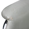 Bruno Mathsson Gray Leather and Chrome Lounge Chair for DUX