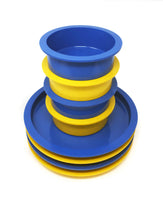 Yellow & Blue Stacking Dishes by Gunnar Cyren for Dansk