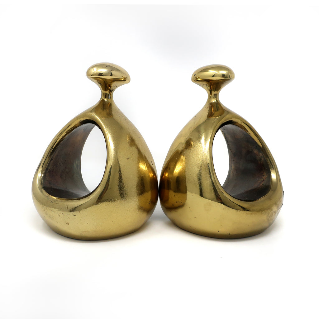 Pair of Ben Seibel Brass Bookends