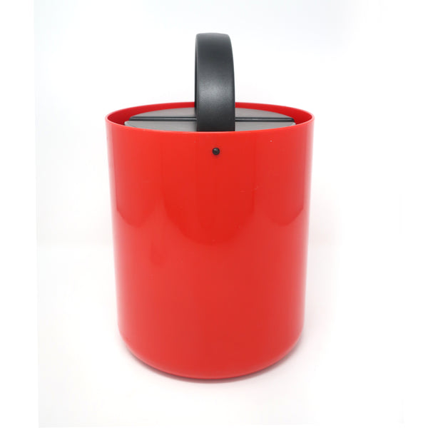 Vintage Red and Black Plastic Ice Bucket by Bodum