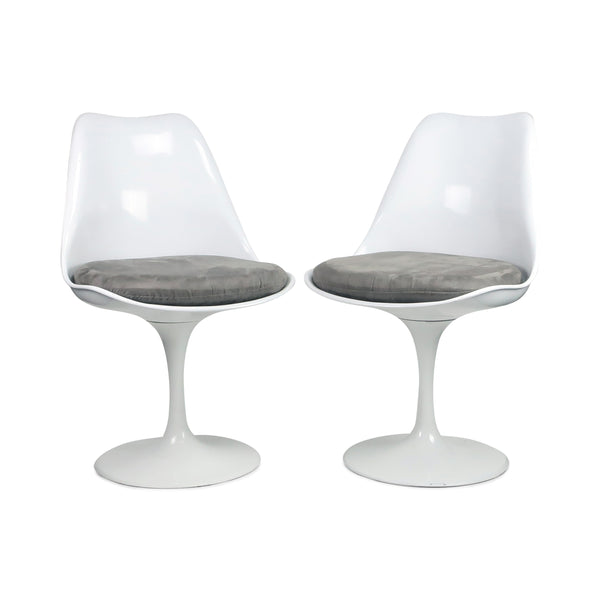 Pair of While Tulip Style Chairs