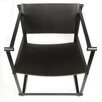 Black Leather FM62 Cube Chair by Radboud Van Beekum for Pastoe