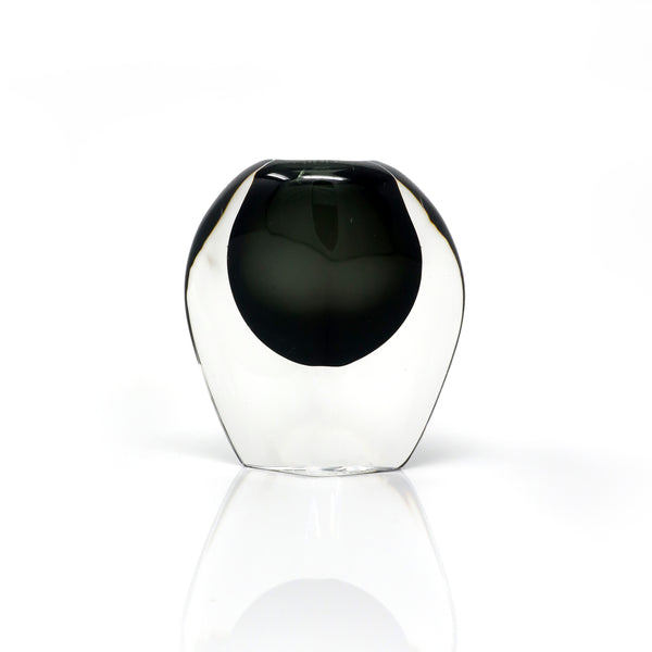 Smoked Glass Vase by Nils Landberg for Orrefors