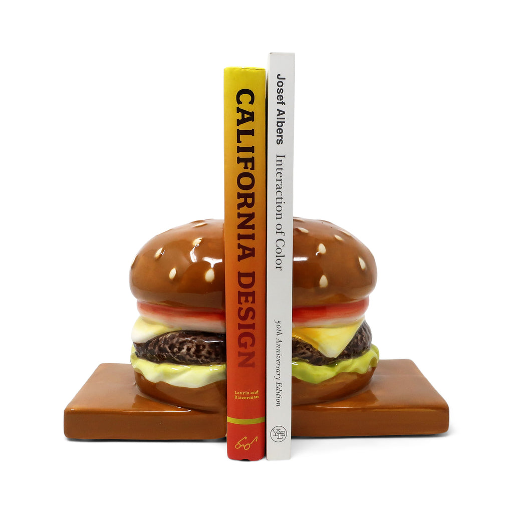 Pair of Ceramic Hamburger Bookends