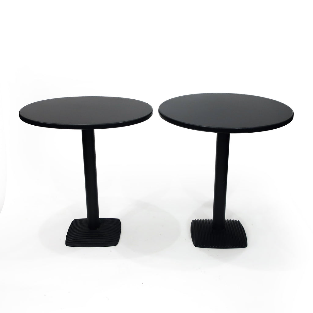 Pair of 1980s Black Side Tables