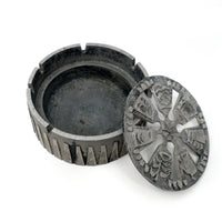 Brutalist Cast Aluminum Ashtray