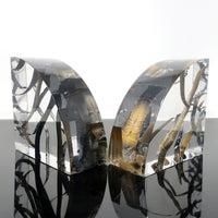 Pair of Vintage Distressed Lucite Bookends