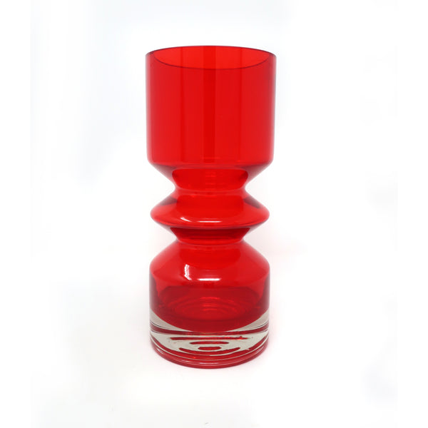 Red Modernist Vase by Tamara Aladin for Riihimaen Lasi Oy