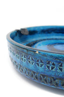 Large Rimini Blue Ashtray by Aldo Londi for Bitossi