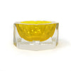 Yellow Mandruzzato Faceted Sommerso Ashtray