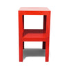 Pair of Vintage Red Plastic Parson Tables by Syroco
