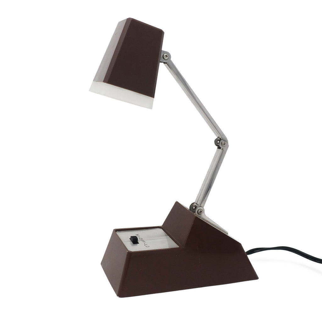 Vintage Brown Folding Desk Lamp