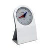 1980s Postmodern Benchmark Quartz Desk Clock