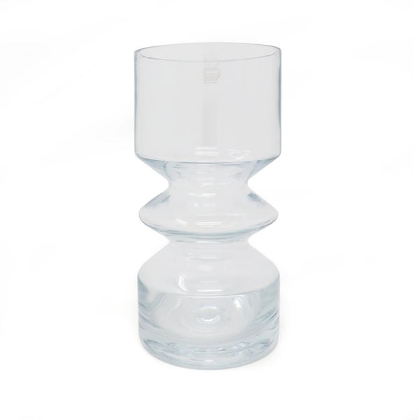 Clear Modernist Vase by Tamara Aladin for Riihimaen Lasi Oy
