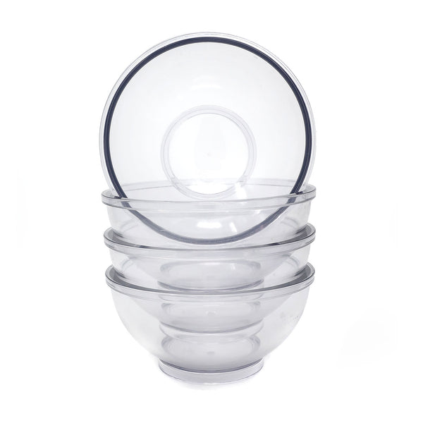 Four Clear Dansk Salad Bowls by Gunnar Cyren