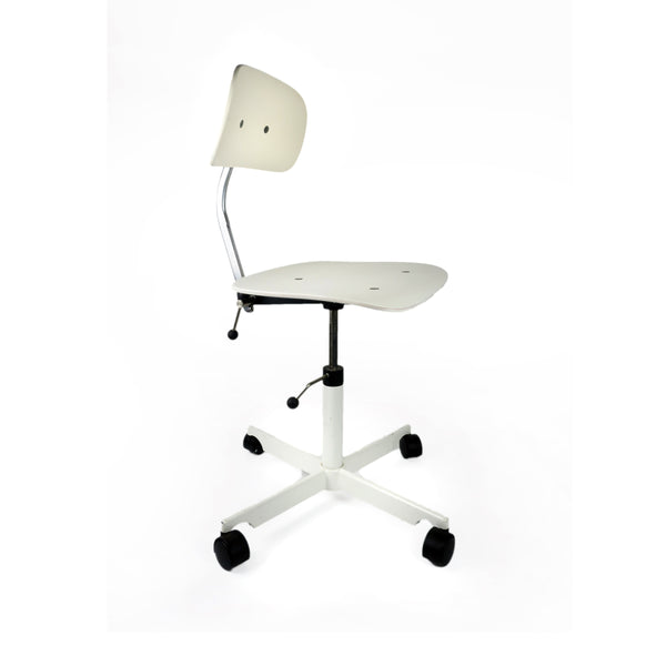 White Kevi Desk Chair by Jorgen Rasmussen for Engelbrechts