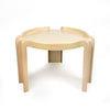 Vintage Cream Side Table by Giotto Stoppino for Kartell