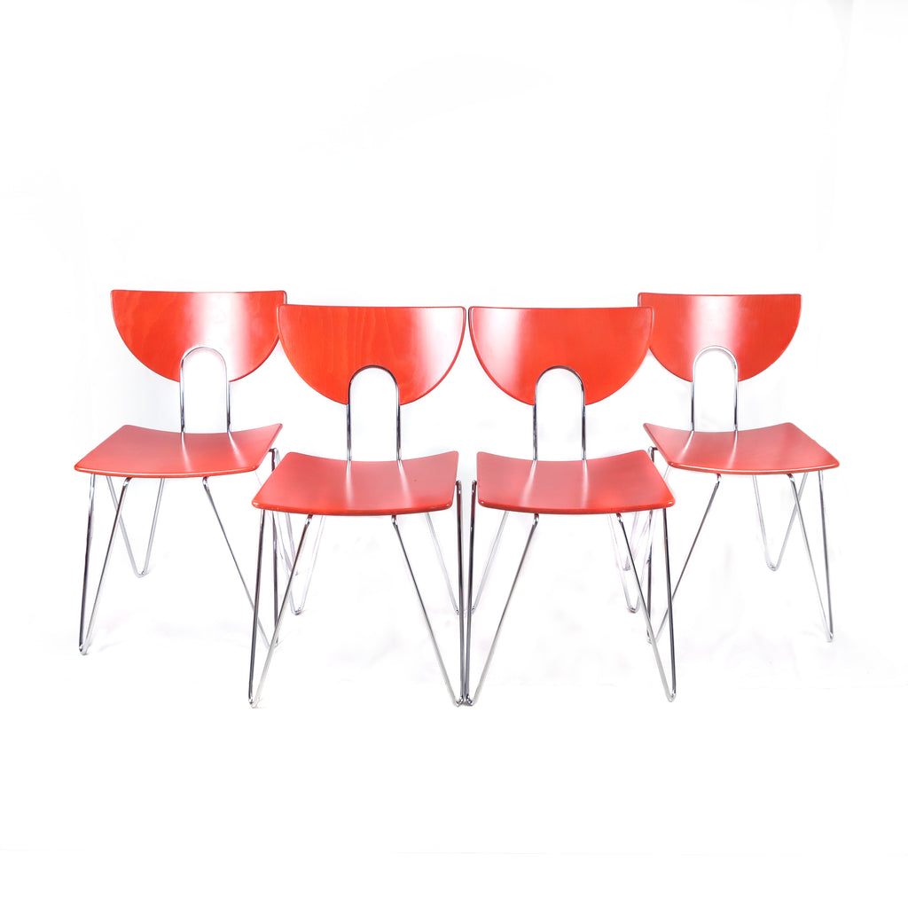 Set of Four Mikado 1800 Side Chairs by Walter Leeman for Kusch+Co