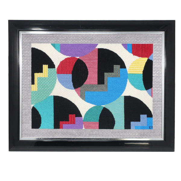 Framed 1980s Postmodern Yarn Painting