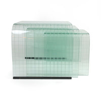 Large Etched Glass Waterfall Table by Angelo Cortesi for FIAM