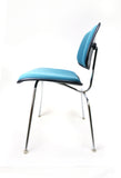 Vintage Teal Upholstered DCM Chairs by Eames for Herman Miller