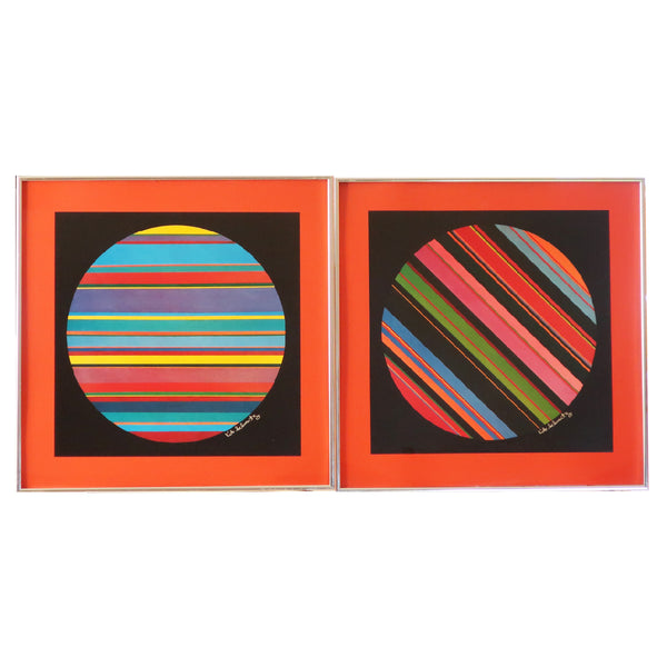 Pair of Pop Art Prints by Kit Schwartz