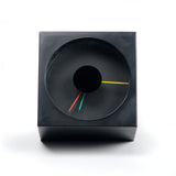 1980s Postmodern Black Canetti Desk Clock