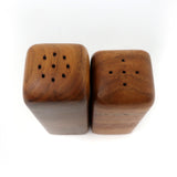 Vintage Handmade Wood Salt & Pepper Shakers