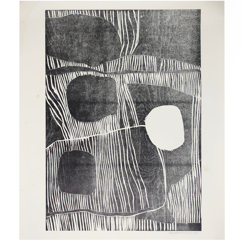 Untitled Woodblock Print by Margaret Wenstrup (1958)