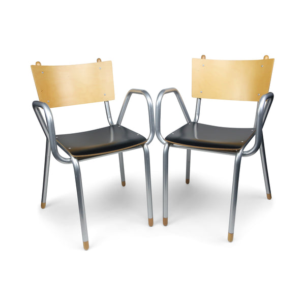 Pair of Classe Prima B Armchairs by Maurizio Peregalli for ZEUS