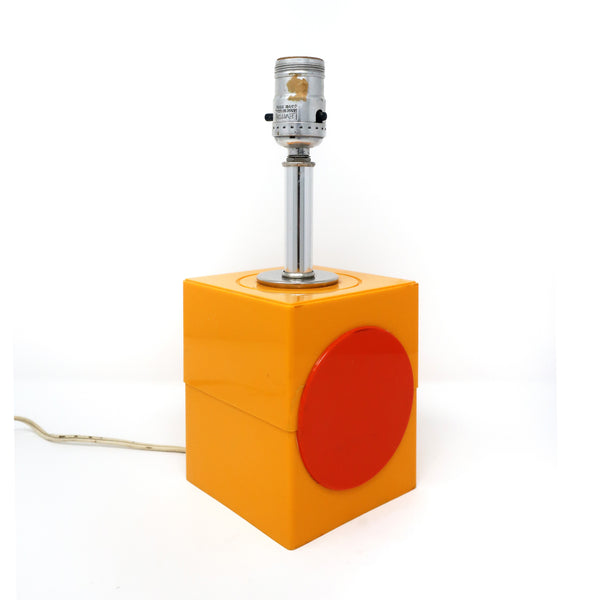 Vintage Mod Orange & Red Table Lamp