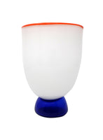 White Art Glass Vase by Fineline Studios (1984)