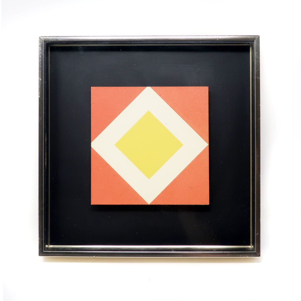 1970s Diamond Op Art by Turner