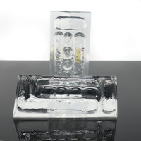 Mid-Century Modern Cast Glass Bookends by Colony
