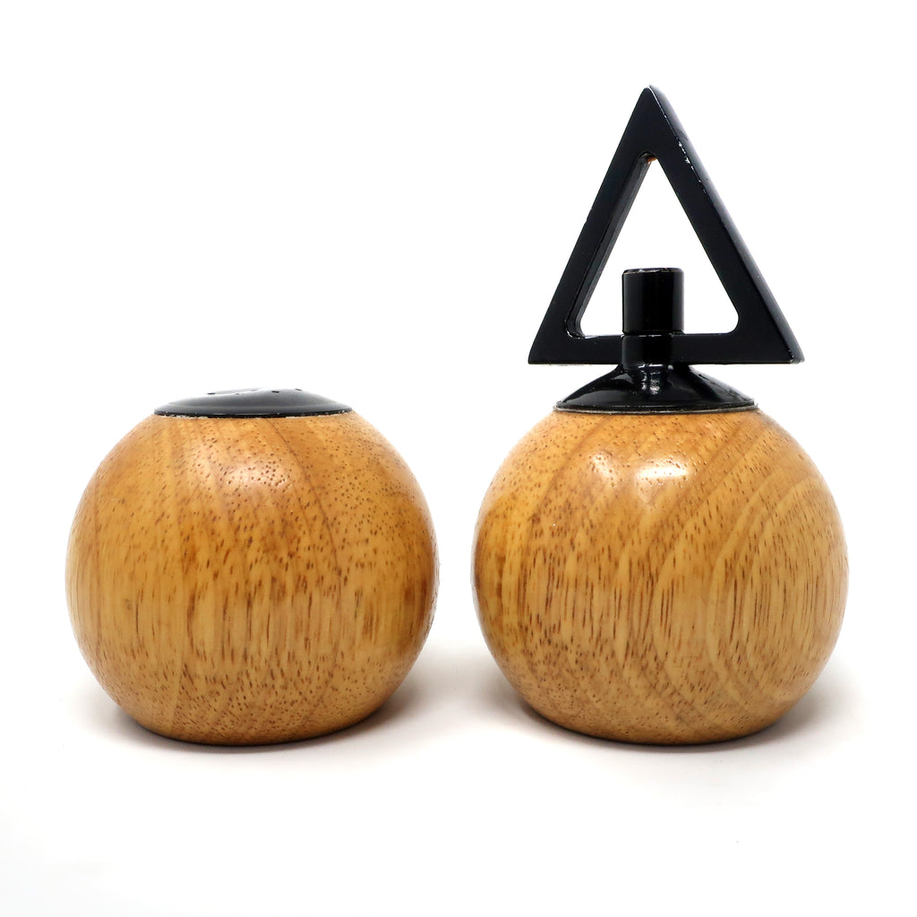 Vintage Postmodern Wood Salt and Pepper Grinder