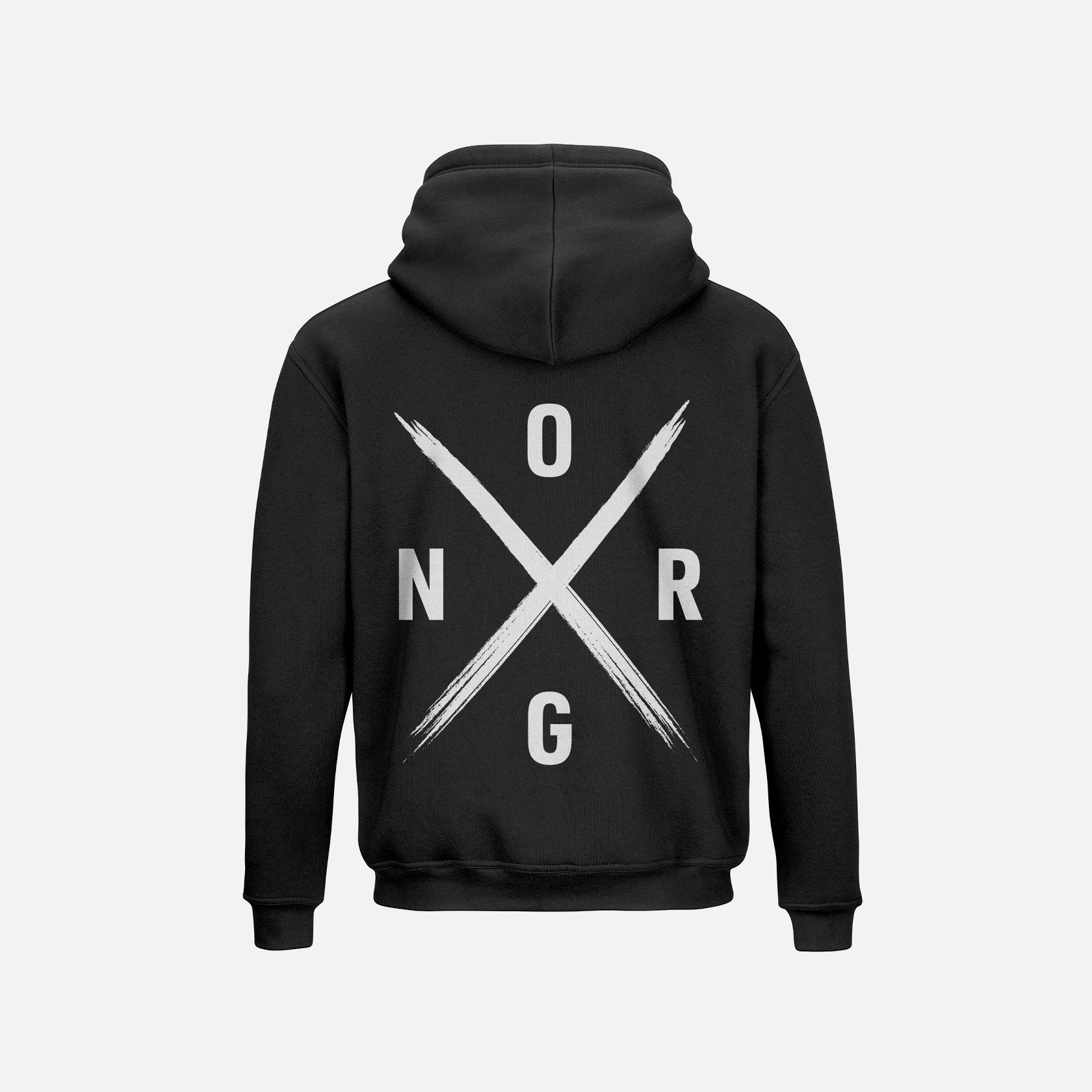 ORGNX Simple X Hoodie Black
