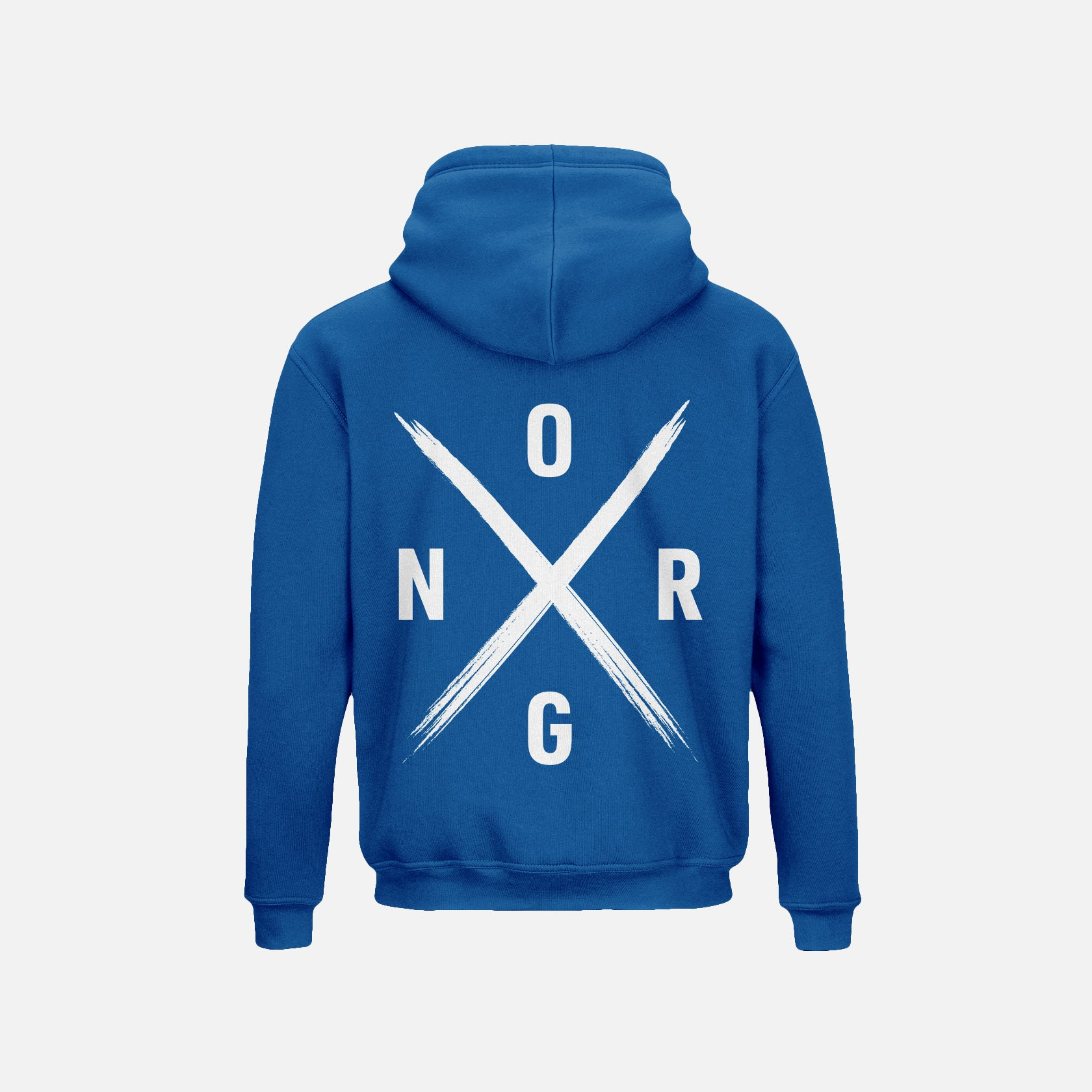ORGNX Simple X Hoodie Blue Back