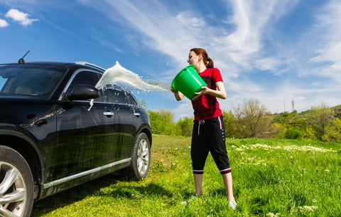 washing-car-on-grass