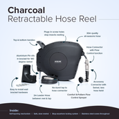 30m Retractable Hose Reel - Charcoal