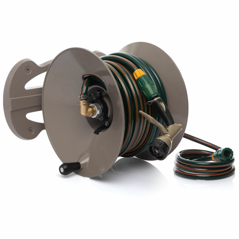 Heavy Duty Wall Mounted Hose Reel with 30m Hose
