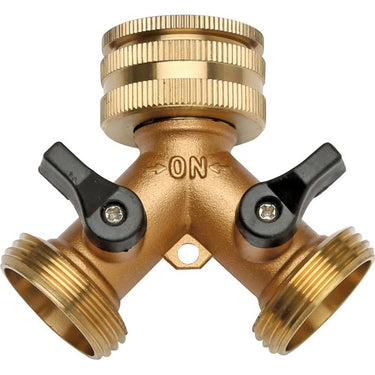 2-Way Brass Tap Adapter