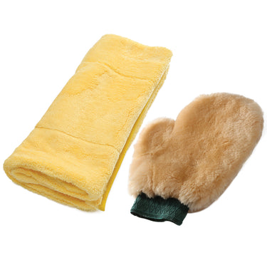 Wool Mitt & Super Soft Towel Set