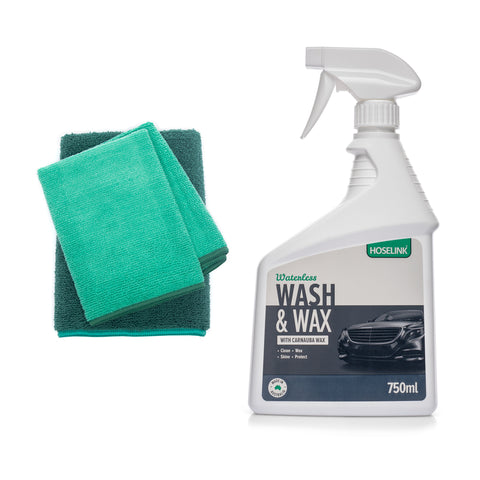 Waterless Wash and Wax with Microfibre Towel Bundle