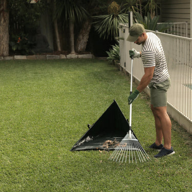 Sweep-in Leaf Collector