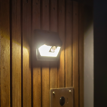 Wide Angle Solar Wall Light with Sensor 18LED