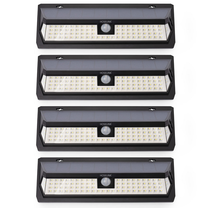 Wall-mount Solar Flood Light with Sensor 80LED - 4 Pack